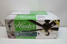 "Hunter Ceiling Fan 52"" Newsome Collection 3 Bulb 53317 Reversible Blades"