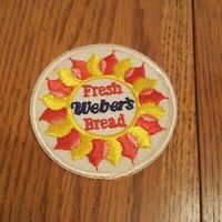 Vintage Weber's Bread Patch - Fresh Bread Sun Red Pink Yellow
