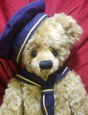 """Ginnie Merigold """"Gold Sailor"""" artist teddy bear mohair 22"""" heavy Meri Bears 1995"""