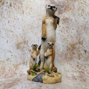 Meerkat Family Super Cute Resin Ornament 35cm Tall