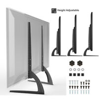 """Universal Table Top TV Stand Base Mount for 27- 55"""" Height Adjustable Load 88Lbs"""