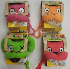 New Lot of 4 , Ugly Dolls To-Go Stuffed Plush Toy - Ugly Dog Clip-on Kids 4+