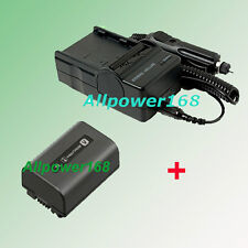 AC/DC Battery + Charger For NP-FV50 NPFV50 SONY DCR-SR68 DCR-SR68E HDR-XR520