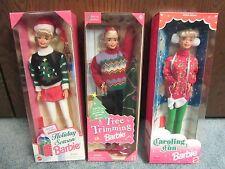Holiday Season Barbie - Caroling Fun SE Barbie - Tree Trimming SE Barbie