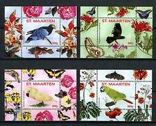 St Maarten 2016 MNH Parrots Series II 4x 1v S/S Nos 1-4 Birds Stamps