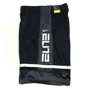 Nike Elite Basketball Shorts Men's CV4888 Black White Gray Size Medium