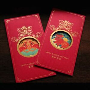 6 Chinese New Year of the Ox 2021 Red Envelopes / Money Envelopes