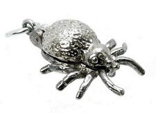 VINTAGE SILVER OPENING SPIDER SPINNING WHEEL CHARM