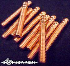 "10 Premium Copper 1"" Tattoo Machine Contact Screws 8-32 American Thread Forward"