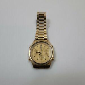 Vintage NOT RUNNING Seiko 7A28-7029 Quartz Chronograph - MISSING BACK