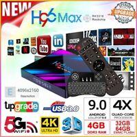 H96 Max Android 9.0 4K Tv Box RK3318 4GB 64GB 2.4G&5.8G Wifi Smart Network Media