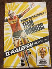 Vintage Raleigh bicycle racing poster