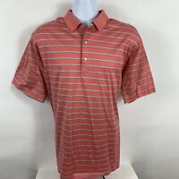 Peter Millar Shirt Mens Size Large Golf Polo Short Sleeve Cotton Business Casual