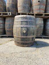 More details for large 75cm wide scotch whiskey oak wooden barrel garden planter home bar bourbon