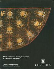CHRISTIES Liturgical Vestments Bernheimer Coll Chasubles Dalmatics Copes Catalog