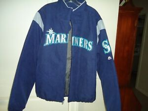 Majestic Seattle Mariners Unisex Jacket Therma Base Navy Baseball Size: L/G/GNew