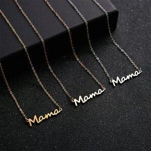 Collana Mama con Ciondolo Festa Della Mamma Metallo 3 Colori Oro/Rosa Oro