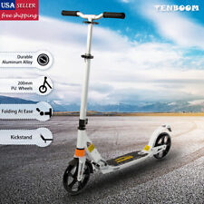 Adult Kick Scooter Folding Ride Portable Lightweight Adjustable 2*200mm Wheels