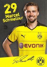 Marcel fonditore (29) + Borussia Dortmund + stagione 2015/2016 + AUTOGRAFO + BIGLIETTO