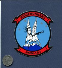 Decal HMM-163 RIDGERUNNERS USMC MARINE CORPS Helicopter Squadron Patch Image