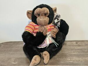 BUNGEE JUNGLE CHIMP Aurora Endangered Species Stuffed Animal/Plush Zoo Monkey