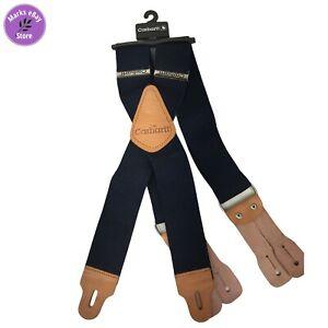 "Carhartt Dungaree Suspenders 2"" Adjustable Work & Hunter Suspender Belt Blue"