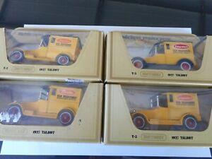 Matchbox Yesteryear Y5 Talbot 4 variants bread vans