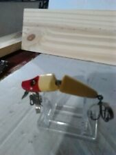 """Old Lure Vintage Double Jointed Wooden Lure With Vintage Weedless Hooks """"Rare""""."""