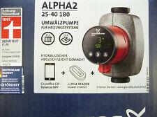 Grundfos Alpha2 25 - 40 Heizungspumpe 180 mm  Umwälzpumpe 230 Volt  NEU P236/20