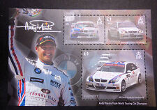 GUERNSEY SGMS1198 ANDY PRIAUIX TRIPLE WTC CHAMPION 2005-2007 MINIATURE SHEET