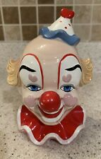 Vintage Enesco Clown Head Bank With Stopper