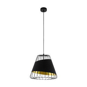 Modern Chandelier Black Design And Gold 1 Light Glo 49446 Austell