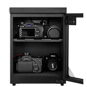 30L Digital Dehumidify Dry Cabinet Box 2 Shelf Camera & Lens storage