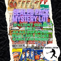 BASEBALL CARD PACK LOT FACTORY SEALED PACK AUTO JERSEY RELIC RCS + MORE HOT 🔥