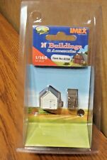 IMEX OUTHOUSE & GARAGE N SCALE BUILT-UP BUILDING