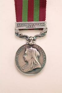 BRITISH INDIAN ARMY MILITARY INDIA MEDAL RELIEF OF CHITRAL BAR / CLASP