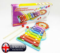 8 Note Kids Xylophone Play Metal Plate Music Fun Toy Gift Childrens Activity Set