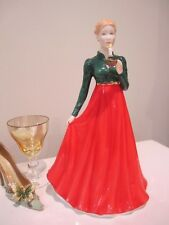 Royal Doulton  Christmas Day Petite Lady Figurine with candle