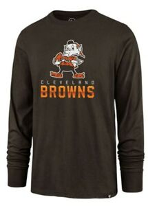 Cleveland Browns '47 t shirt legacy vintage throwback logo brownie long sleeve