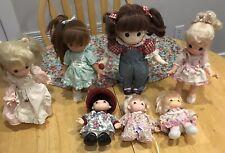 """1990 Precious Moments (1) 11"""" Vinyl Doll,(3) 10"""" Vinyl Dolls, (3) 4"""" Vinyl Dolls"""