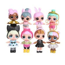 8 Set LOL Surprise Dolls Figures Cake Toppers Toys Gift Accessories  PVC Materia