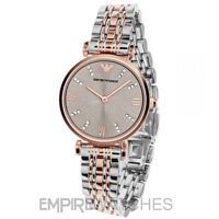 *NEW* EMPORIO ARMANI LADIES GIANNI GOLD T-BAR DIAMONTE WATCH - AR1840 - RRP £329