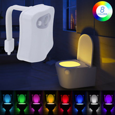 LED Toilet Bathroom Night Light 8 Color Motion Sensor Activated Illumibowl Home