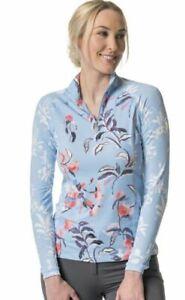 Kastel Denmark UV Shirt - Light Blue Floral & Watercolor