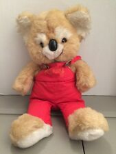 "GIBSON GREETINGS 20"" Vintage Kirby Koala Bear Red Overalls"