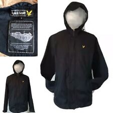 Men's Lyle and Scott jacket small Black Hooded