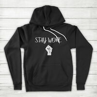 Stay Woke Black Lives Matter Fist BLM No Justice No Peace Symbol Pullover Hoodie