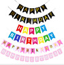 Happy Birthday  13 Letters Banner Flag Bunting Garland Party Decoration