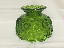 Vintage Moon and Stars Green Glass Lamp Shade L. E. Smith