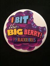 99 Blackberries Advertisement Pinback I Bit the Big Berry Button Pin Schnapps